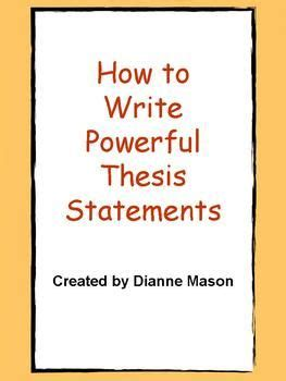 Writing a Thesis and Making an Argument Department of